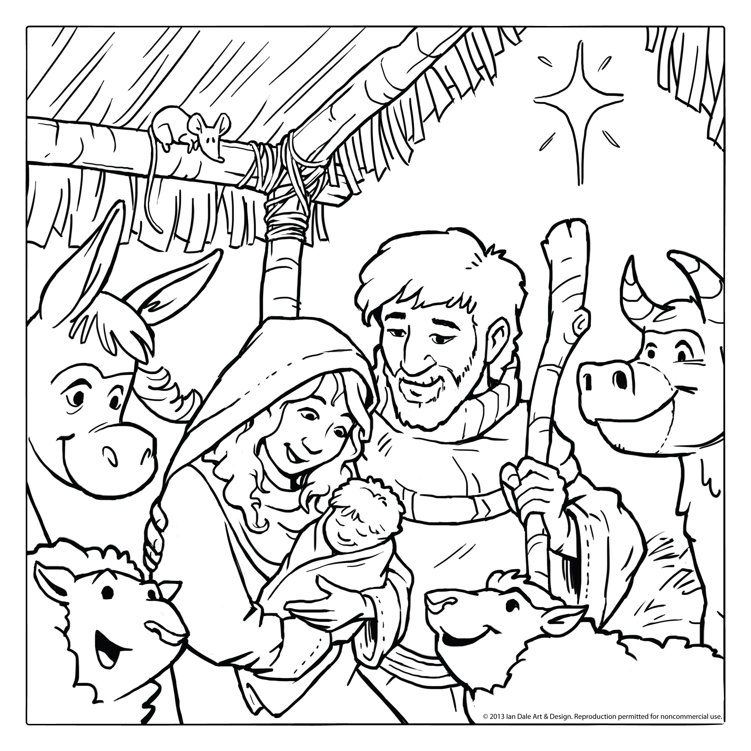 Ian Dale Art & Design | Blog: Christmas Nativity Scene - Free ...
